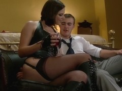 Chastity Cuckold Slave Smell his cock on my pussy