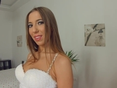 GiveMePink Dripping wet orgasm for brunette beauty