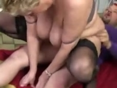 Fat granny in stockings fucked hard