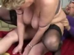 Fat granny in stockings fucked hard