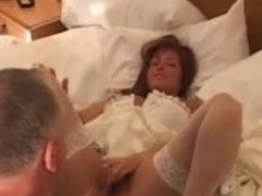 Cuckold wedding night with 2 darksome schlongs