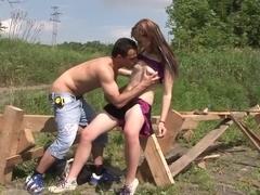 Hottest pornstar Alexis Crystal in crazy college, outdoor porn movie