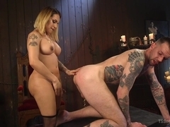 TS Foxxy & Will Havoc in A Sensual Ts Feast: Goddess Ts Foxxy's Pleasure Slave - TSSeduction