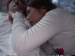 Subtitled voluptuous Japanese Haruki Satou public foreplay