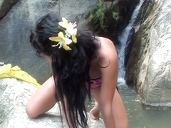 Bella Margo in slut masturbates in a hot vacation porn video