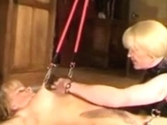 Slave girl tied and tortured with electric toys