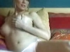 Incredible blonde gets naked on webcam and shows her goodies