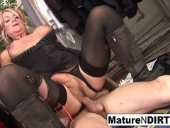 Granny Fucks A Younger Man In The Fitting Room - MatureNDirty