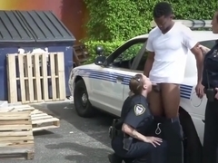 New perverted milf cops trap their first kinky victim in lonely alley