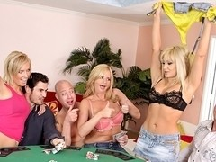 Madison James, Victoria White, Jay Lassiter, Jenner, K.D. in Neighborhood Swingers, Scene #01