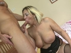 Aged mamma receives drilled by her toyboy