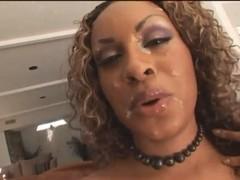 Wonderful ebony whore likes to be fucked very hard