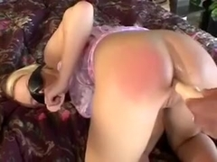Blindfolded nympho gets her holes worked out and deepthroats a cock