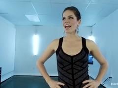 Watch Audrey Hollander get Electro Anally Destroyed