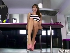 Flawless round ass babe Franceska gets pussy fucked