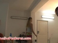 Backstage blow job and striptese by real czech chick