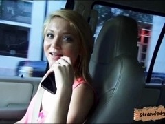 Nasty teen Dakota Skye fucked in the car with pervert guy