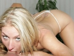 Blonde Babe With No Gag Reflexes
