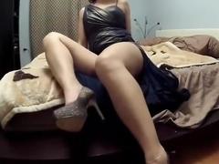 Sensual woman masturbates so rough