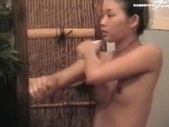 Two pairs of Asian boobs on the voyeur spy camera dvd 03209