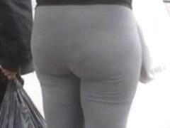 Gray Tights Booty Ass Butt