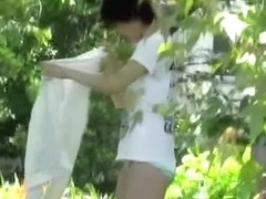 Top sharking video of some slender oriental amateur babe