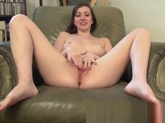 Ally Evans lays back and masturbates