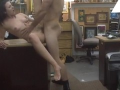 Customers wife fucks by horny pawnkeeper to earn extra money