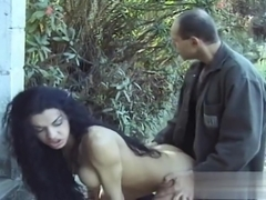 TS lusty Sabrina Hemolly gets pounded outside..