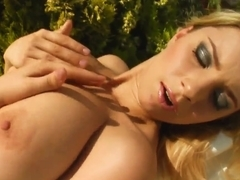 Katrin shows her huge boobs on cam