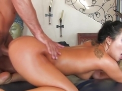Asa Akira gives an awesome nuru massage
