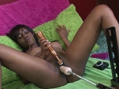 Fabulous pornstar Nina Devon in Incredible Masturbation, Black and Ebony adult clip