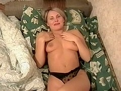 Mature blonde babe likes it rough