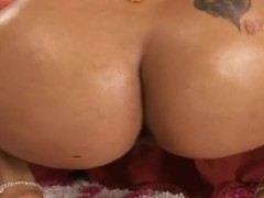 Beautiful chocolate whore Goddess drilled by her friend Reno