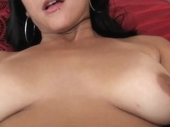 Jmac fucks Lily's shaved pussy with dark petals with his huge agregate