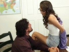 April O'Neil & Tommy Gunn in Naughty Book Worms
