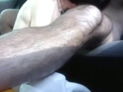 Fucking the wife on the backseat of our car