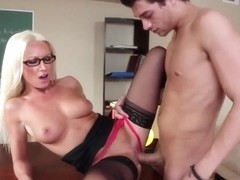 Extremely hot blonde teacher Diana Doll and student with a big dick Xander Corvus
