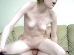 Skinny Teen's Couch Fuck