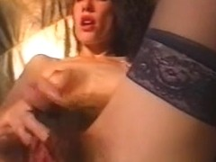 Vintage hardcore hairy sex movie with sex toys involved