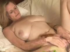 Captivating woman masturbating
