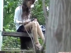 Butthole stretching video of curly brown-haired Japanese babe having sharking encounter