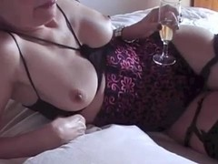 Mature French wife fucking with her husband on bed