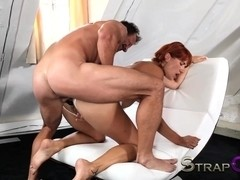 She takes two in her pussy for  the first time