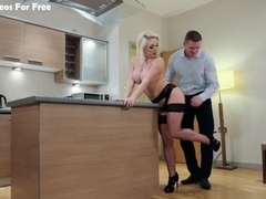 Private - Victoria Summers Keeps Her Stockings On To Fuck