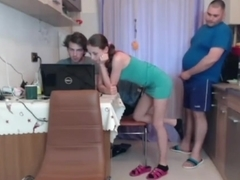 girl jerks off to a fat man in front of her husband 2