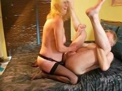 Blonde German bitch enjoys anal sex