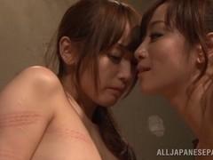 Beautiful lesbian Fuuka Nanasaki enjoys softcore lesbian lovemaking