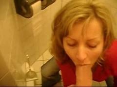 Hot Toilet Blowjob