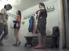 Hidden camera in female locker room